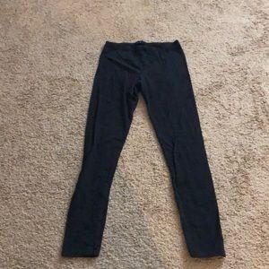Black leggings, full length